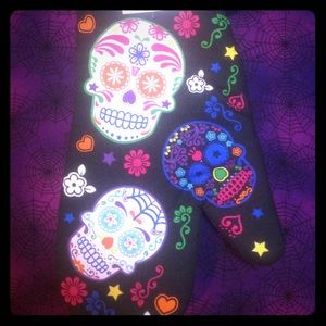 Accessories - Day of the dead oven mit